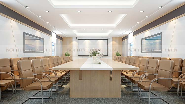 bàn họp cao cấp gỗ Laminate